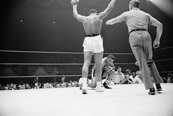 Portrait of Muhammad Ali Taunting Floyd Patterson
