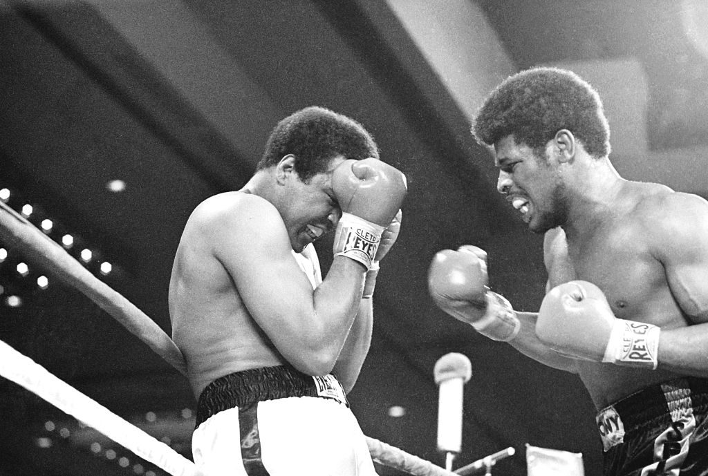 Muhammad Ali Blocks Leon Spinks Punches