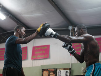NORTHPORT, AL - MAY 28: WBC Heavyweight Champion Deontay Wilder works with trainer Mark Breland during his media workout on May 28, 2015 in Northport, Alabama. (Photo by David A. Smith/Getty Images)