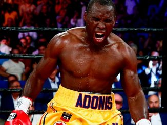 Adonis Stevenson celebrates after defeating Thomas Williams, Jr. during their WBC light heavyweight championship fight at the Centre Videotron on July 29, 2016 in Quebec City. (Image Credit: Mathieu Belanger/Getty Images)