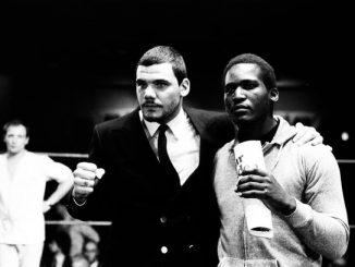 Noel Quarless (L) with Errol Christie (R) in 1984.