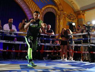 LOS ANGELES, CALIFORNIA - APRIL 09: Vasiliy Lomachenko works out at Ukrainian Cultural Center on April 09, 2019 in Los Angeles, California. (Photo by Yong Teck Lim/Getty Images)